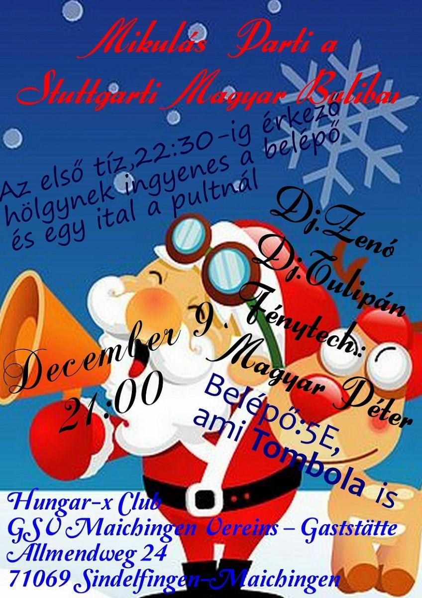 Ho-ho-ho-hoooo Mikulás Buli Stuttgart