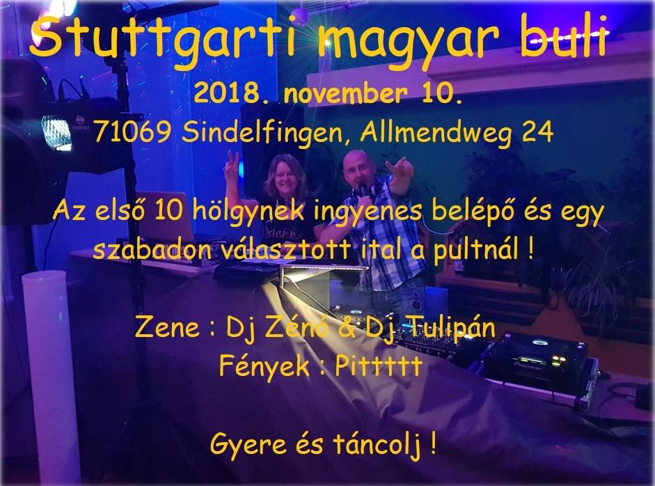 Stuttgarti-Magyar Buli ismét lesz tánc