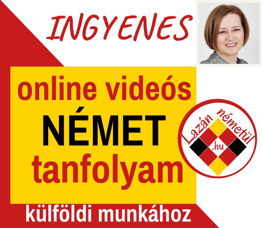 INGYENES online videós NÉMET tanfolyam külföldi munkához