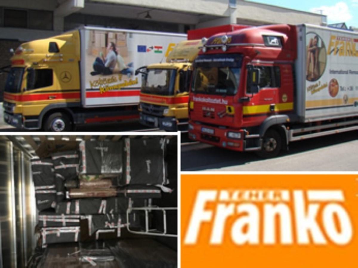 Nemzetközi költöztetés - Frankó költöztetés