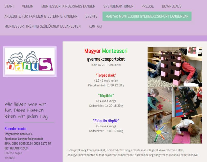 Magyar Montessori Gyermekcsoport